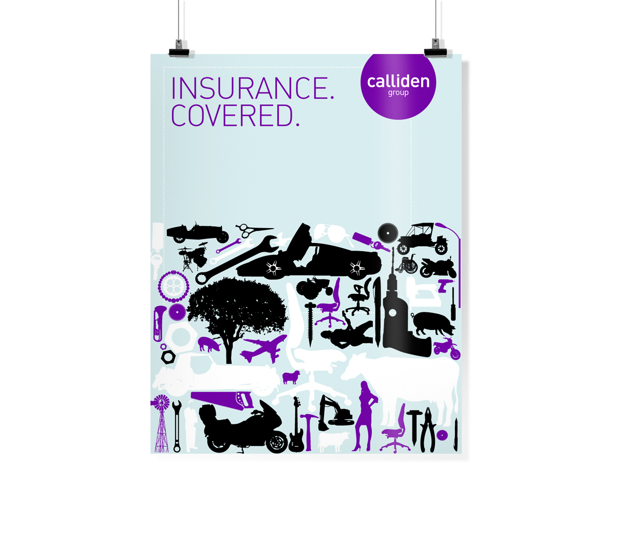 Claudine insurance poster